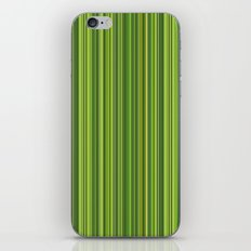 Many multicolored strips in the green sample iPhone & iPod Skin