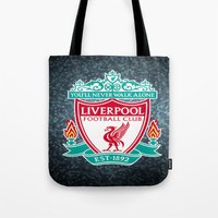 liverpool Tote Bags featuring LIVERPOOL by Acus