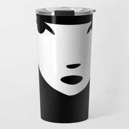 Emily the Strange: Emily's face Travel Mug