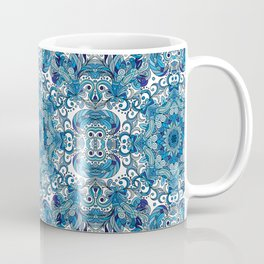 Blue Boho Mandela Pattern Coffee Mug