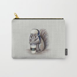 Squirrel with Coffee Carry-All Pouch