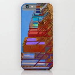Cartoonised Beach Huts iPhone Case