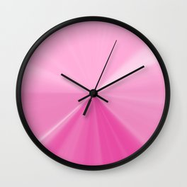 Pink Bubble Gum Pinch Point Wall Clock