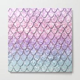 Mermaid Scales on Unicorn Girls Glitter #1 #shiny #pastel #decor #art #society6 Metal Print