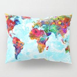 World Map - 2 Pillow Sham