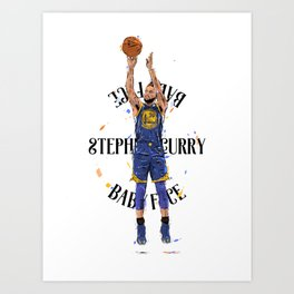 Stephen «Babyface» Curry Art Print