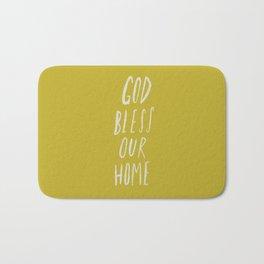God Bless Our Home x Mustard Bath Mat