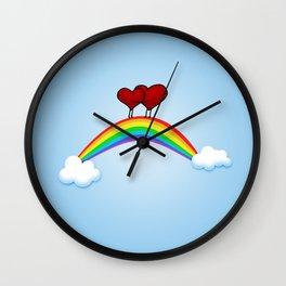 Love on rainbow Wall Clock