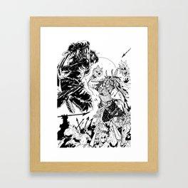 Blood Meat Framed Art Print