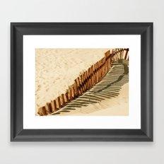 Bolonia beach Framed Art Print