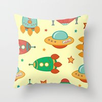 outer space Throw Pillows featuring Outer space by olillia