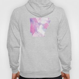 Watercolor State Map - Arkansas AR purple and pinks Hoody