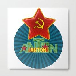 Anton Name Metal Print