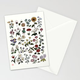 Flower Faces Stationery Cards