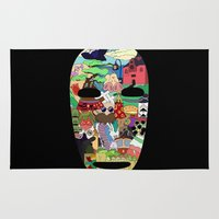 spirited away Area & Throw Rugs featuring No Face by Ilse S