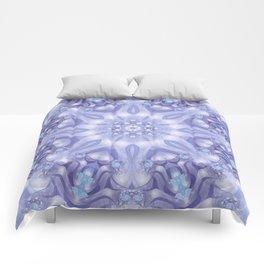 Light Blue, Lavender & White Floral Mandala Comforters