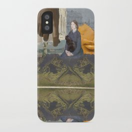 Black Cat (reflection) iPhone Case