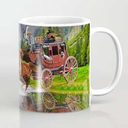 Wells Fargo Stagecoach Coffee Mug