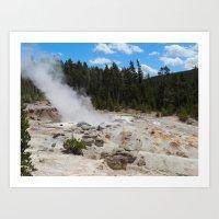 Yellowstone Geyser Art Print