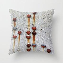 Rusty Buttons 2 Throw Pillow
