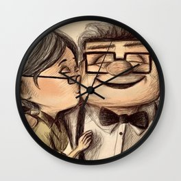 UP Kiss Love - Ellie Carl Wall Clock