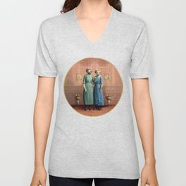 The Sloth Sisters at Home Unisex V-Neck