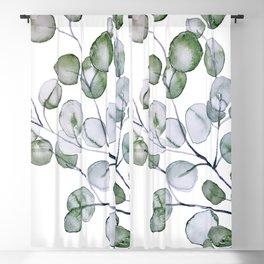 Eucalyptus Green Watercolor Blackout Curtain