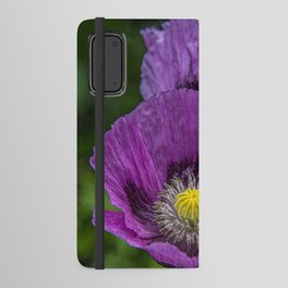 Lilac Poppy Android Wallet Case
