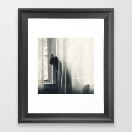 Le Kitty  Framed Art Print
