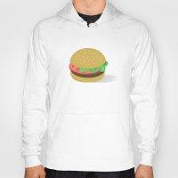 hamburger Hoodies featuring Hamburger by brittcorry