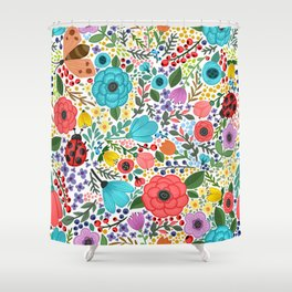 flower pattern Shower Curtain