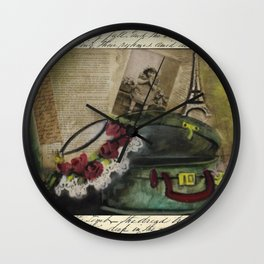 my sweet girls hat Wall Clock