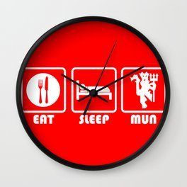ESP: Red Devils Wall Clock