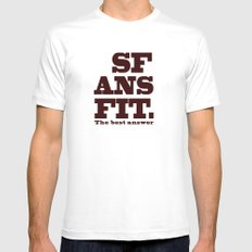 SFANSFIT... the best answer White Mens Fitted Tee MEDIUM