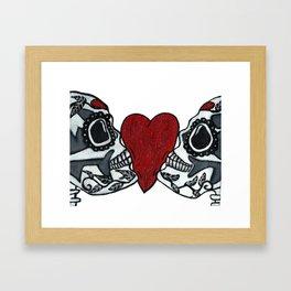 Amo y Besos<3 Framed Art Print