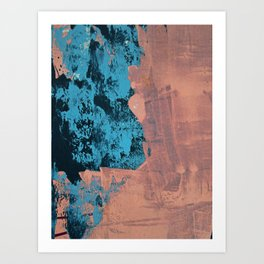 Delight [4] in pink: a pretty minimal abstract piece in blues and pink by Alyssa Hamilton Art Art Print