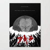 akira Canvas Prints featuring Akira by TheRandomFactory