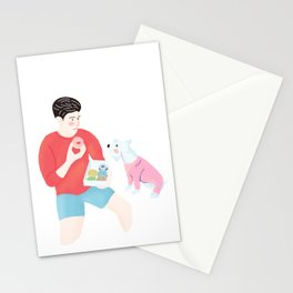 Dog wants Donuts Stationery Cards
