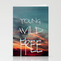 neil young Stationery Cards featuring YOUNG by Monika Strigel