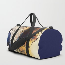 Watercolor elephant & mandala art Duffle Bag