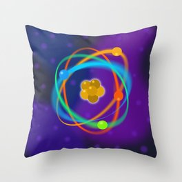 Atomic Structure Spots Throw Pillow