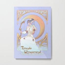 Art Nouveau Moon Goddess Metal Print