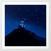 wall e Art Prints featuring Wall-e by KanaHyde