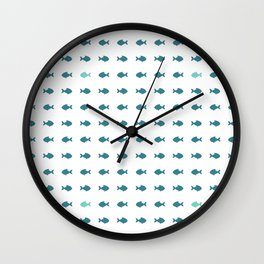 blue fishes Wall Clock