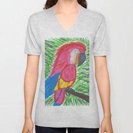 Pink Bird of Paradise Unisex V-Neck
