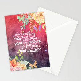 A Thousand Perfect Notes quote 2 Stationery Cards