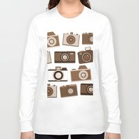 cameras Long Sleeve T-shirts featuring cameras (black) by vitamin