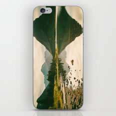 Mountain Reflecting the Lake in Many Glacier  iPhone & iPod Skin