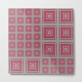 """""""Grandma's pink blanket"""" Metal Print"""