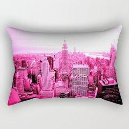 New York City Pink Rectangular Pillow